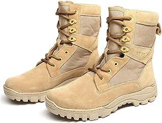 Bottes tactique pour hommes,Haute en tête désert Combat Bottes militaire Patrol travail Suede Armée Boot Peau de vache,Bei...