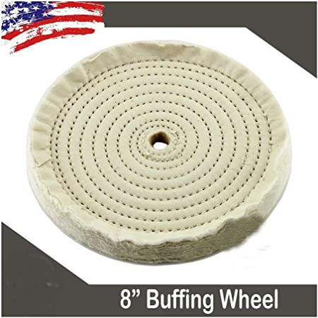 """8 inch Buffing polishing Wheels For Bench Grinder Buffer With 5//8/"""" Arbor Hole 60"""