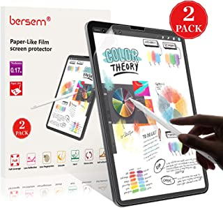 [2 Pack] PaperLike iPad Pro 11 Screen Protector, BERSEM iPad pro 11 Matte PET Film for Drawing Anti-Glare and Paper Texture iPad Pro 11 Screen Protector Easy Installation Kit