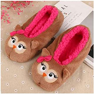 Womens Warm Flats Soft Sole Women Indoor Floor Slippers Shoes Christmas Cartoon Animal Shape Home Slippers
