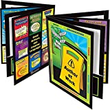 """Really Good Stuff Author at Work 4-Pocket Laminated Student Folders, 9½"""" by 12"""" (Set of 12) – Keep Students Organized – With Writing Tips, Reminders, Definitions, Strategies – Monitor Student Progress"""