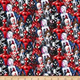 Springs Textiles Marvel Spiderman and Friends Stoff, Rot