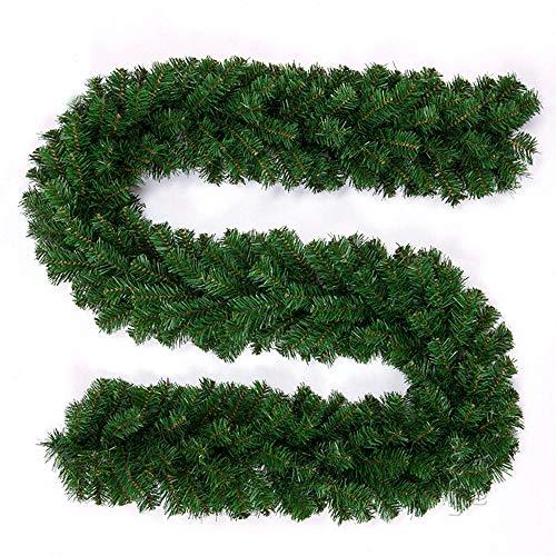 You's Auto 270CM Weihnachtsgirlande Tannengirlande Grüne Weihnachten Deko Girlande Deko für Weihnachten Baum Kamin Treppentür Garten