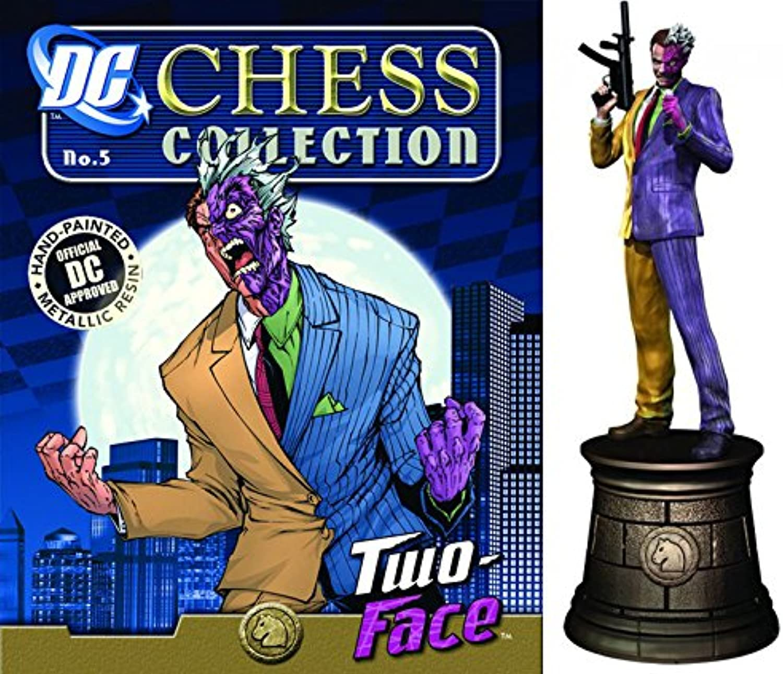 Figuren des Schachspiels Harz DC Comics Chess Collection Nº 5 Two Face B01N6UJ46R Spielzeugwelt, glücklich und grenzenlos | Verpackungsvielfalt