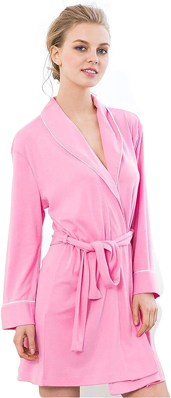 Bath Robes Womens Soft Knit Sleepwear Kimono Collar Long Lounge Wear Long Sleeve Sleepwear,for All Seasons Spa Hotel Pool Sleepwear SXL,S