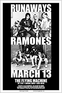 Raw Sugar Art Studio Runaways/Ramones 1978 Akron Concert Poster