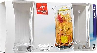 زجاج دائري عالي الجودة من بورميولي روكو كابيتول قطعة واحدة شفافة 330 مل