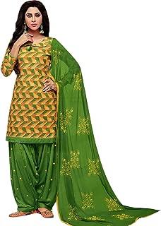 Patiala Salwar Embroidered Cotton Salwar Kameez Suit