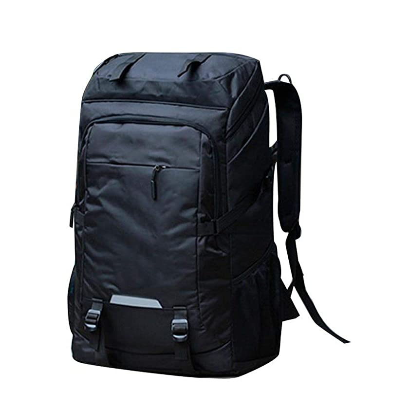 80l Large Capacity Backpack Men Outdoor Mountaineering Long Travel Luggage Backpack,Black