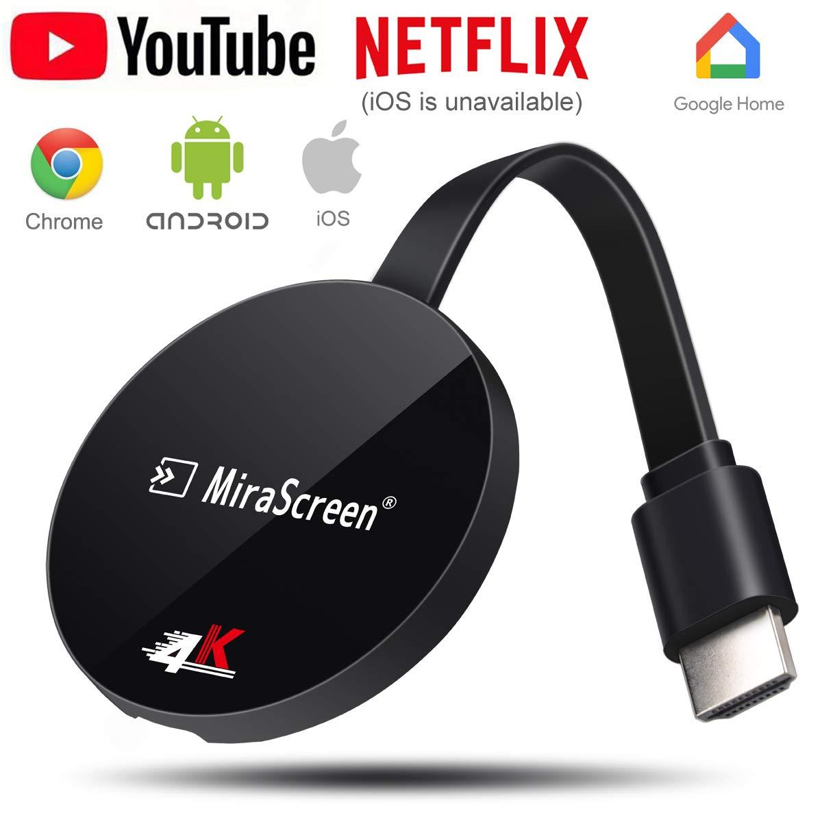 Adaptador HDMI inalámbrico 4K con pantalla WiFi Dongle para TV 4K y 1080P, adaptador de receptor