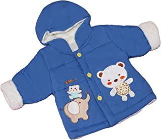 GRAPPLE DEALS Toddlers Boys Girls Winter Warm Thick Hooded Fleece Jacket.
