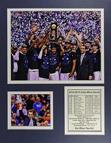 Duke Blue Devils NCAA Double Matted 8x10 Photograph Team Logo