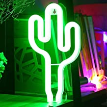 XIYUNTE Cactus Lights Neon Signs - LED Night Lights Neon Lamps Battery and USB Powered Cactus Signs Wall Decor Bedside and...