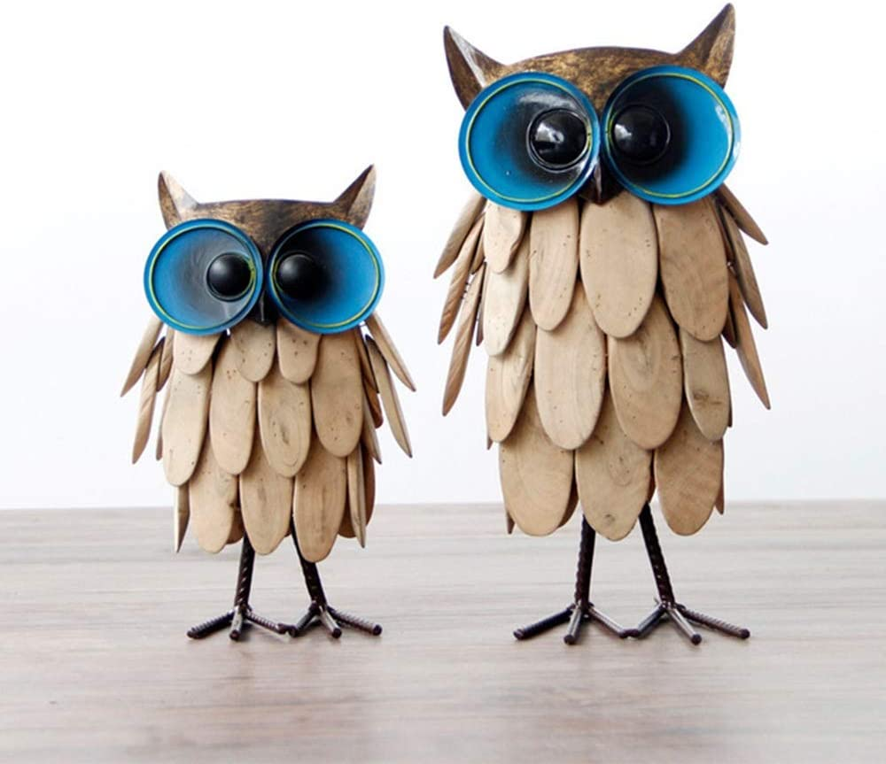 ZXK Handmade Inventory cleanup Tampa Mall selling sale Owl Creative Wrought Decorati Home Iron Wood Crafts