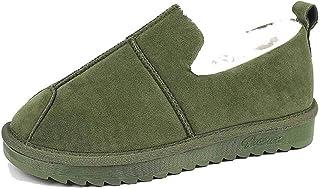 Stivali da neve invernali Pantofole con plateau impermeabili in pelle scamosciata Stivaletti alla caviglia Morbide scarpe ...
