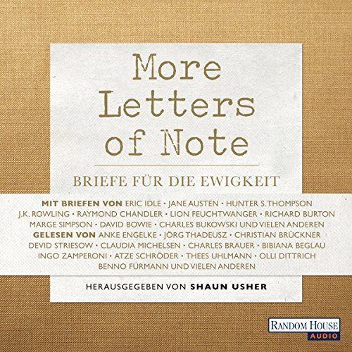 More Letters of Note audiobook cover art