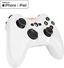 TNP PXN Speedy MFi Apple Certified Wireless Bluetooth Game Controller Mobile Gamepad Joystick compatible with Apple TV, iPhone, iPad, iPod Touch with Adjustable Phone Clip Mount Holder (White)