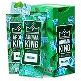 Aroma King - Premium Set de 25 tarjetas de mentol para un sabor inolvidable | Tarjeta de aroma | incl. caja para guardar las tarjetas de sabor de mentol