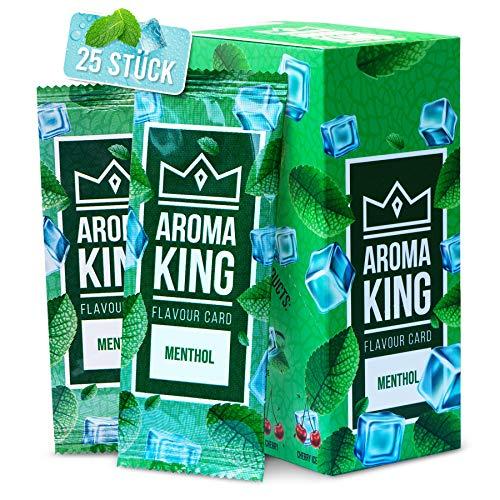 Aroma King - Premium 25er Set | Menthol Karte für unvergesslichen Flavour Geschmack | Aromakarte | inkl. Schachtel zur Aufbewahrung der Menthol Blättchen Karten