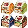 Aspen Mulling Spices Flavor Variety Pack - Four 5.65oz Cartons (Cinnamon Orange Blend, Caramel Apple Spice Blend, Vanilla & Spice Ala Mode, and Eggnog Original Recipe Mix),