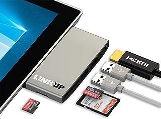 LINKUP - موزع محول قارئ ذاكرة مايكرو SD متوافق مع بطاقة SD SD 4 | محطة توصيل 6 في 1 | 4K HDMI 1x SD 2X MicroSD، 2X USB-A 3...