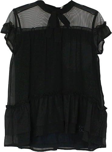Twin-Set Fille 191GJ209000006 Noir Polyester chemisier