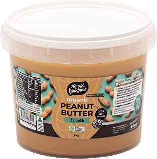Honest to Goodness Organic Peanut Butter Smooth, 2 Kilograms