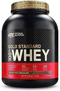 comprar comparacion Optimum Nutrition ON Gold Standard 100% Whey Proteína en Polvo Suplementos Deportivos, Glutamina y Aminoacidos, BCAA, Doub...