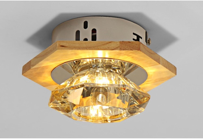 Unbekannt GJ- Massivholz führte Wohnzimmer Lichter Effekt Lichter Krone Rumung Kristall Gang Lichter Downlights Lichter Lampen (Stil   C)