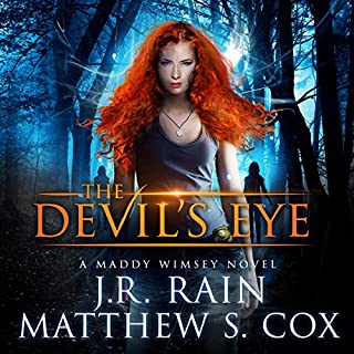 The Devil's Eye     Maddy Wimsey, Book 1              By:                                                                                                                                 J. R. Rain,                                                                                        Matthew S. Cox                               Narrated by:                                                                                                                                 Lillie Ricciardi                      Length: 7 hrs and 6 mins     18 ratings     Overall 3.9