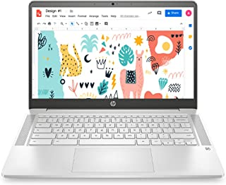 (Renewed) HP Chromebook 14a-na0003TU 14-inch Thin & Light Touchscreen Laptop (Intel N4020/4GB/64GB SSD + 256GB Expandable/...