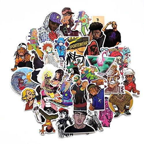 Hip Hop Rap Street Style Koelkast Skateboard Trolley Case Stickers Rugzak Tafels Waterdicht Pvc Sticker 50 stks/partij