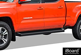 APS iBoard Running Boards (Nerf Bars Side Steps Step Bars) Compatible with 2005-2020 Toyota Tacoma Double Crew Cab Pickup 4-Door (Black Powder Coated Running Board Style)