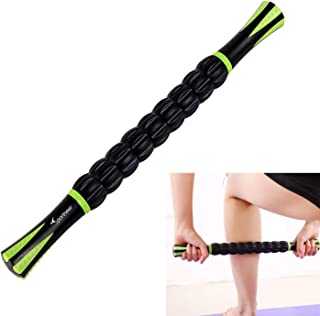 Sports Muscle Roller Massage Stick - Ideal for Deep Tissue Massage, Trigger Point Therapy and Myofascial Release