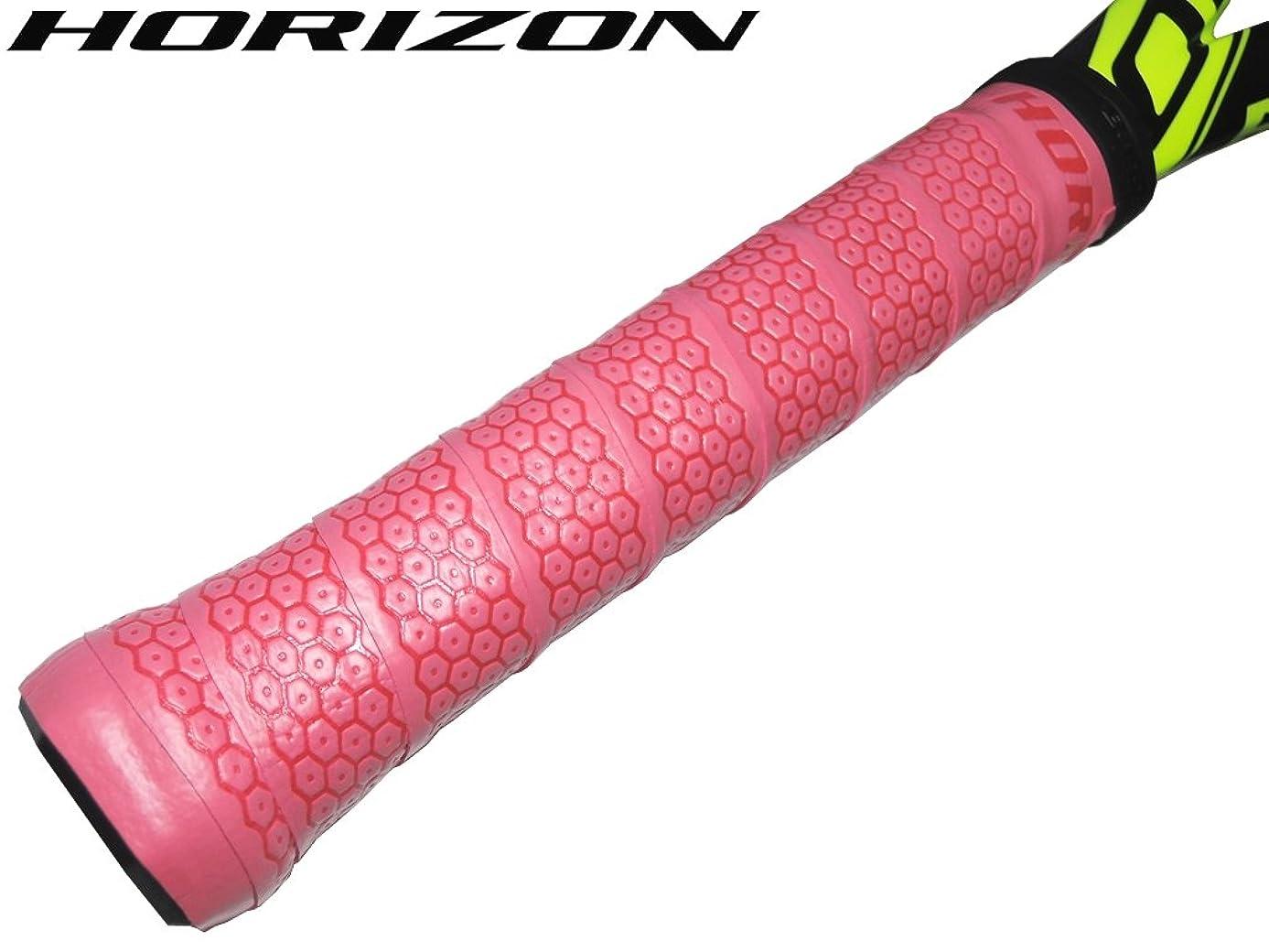 ミスペンドサイクル誰の【HORIZONホライズン】手に吸い付く オクトパス ウェット オーバーグリップテープ ピンク 1本 硬式テニスグリップ用