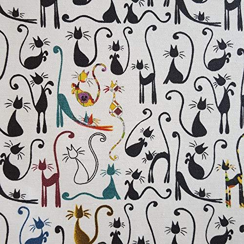 Staab's Beschichtete Baumwolle Katzen (Meterware, Qualität Zum Nähen), (100 x 140 cm)