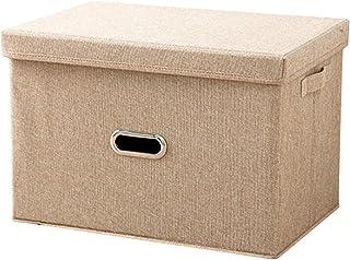 折りたたみ 収納ボックス フタ付き ファブリックボックス 折り畳み収納ボックス 押入れ収納 ボックス 収納ケース フタ付き 折り畳み収納(M ベージュ)