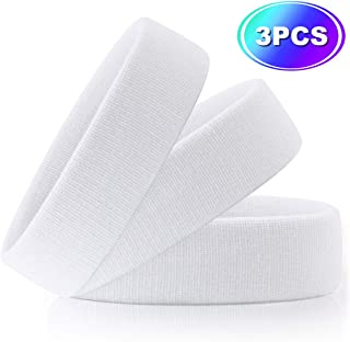Hoter Sweatband Headband Wristbands Athletic Exercise Basketball Wrist Sweatband and Headbands Moisture Wicking Sweat Absorbing Head Band 2Pcs/3Pcs