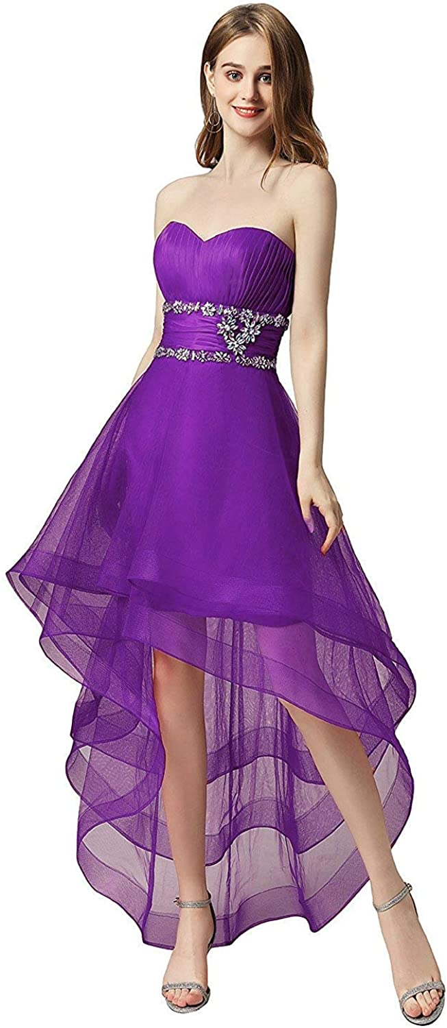 ANFF Women Sweetheart Strapless Laceup Back Prom Homecoming Formal Gowns 2019