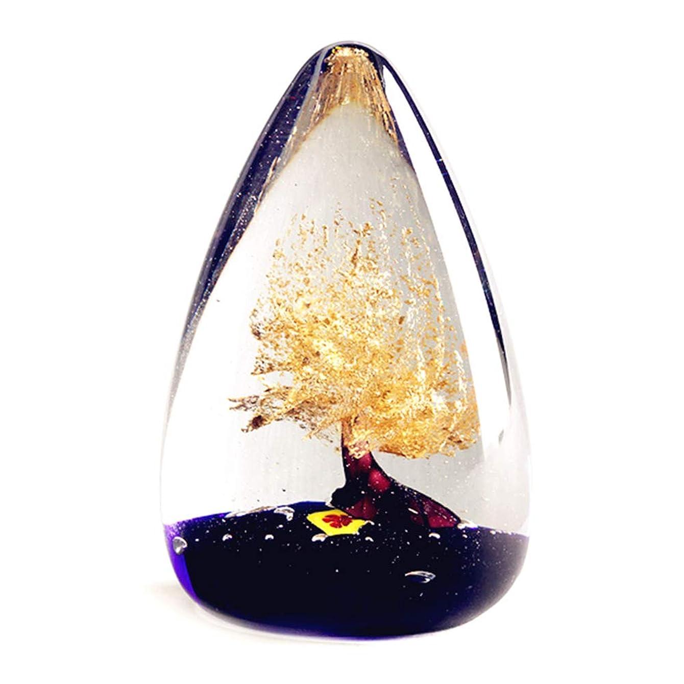 スクラブ鍔ケーブルカークリエイティブモダンホームラッキーマネーツリーの装飾品、品質の滑らかな半透明のガラス、三次元の手作り、水滴の形のアートの装飾