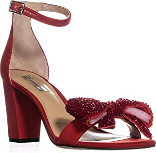 International Concepts KIVAH Block-Heel Dress Sandals RED Bow 8M