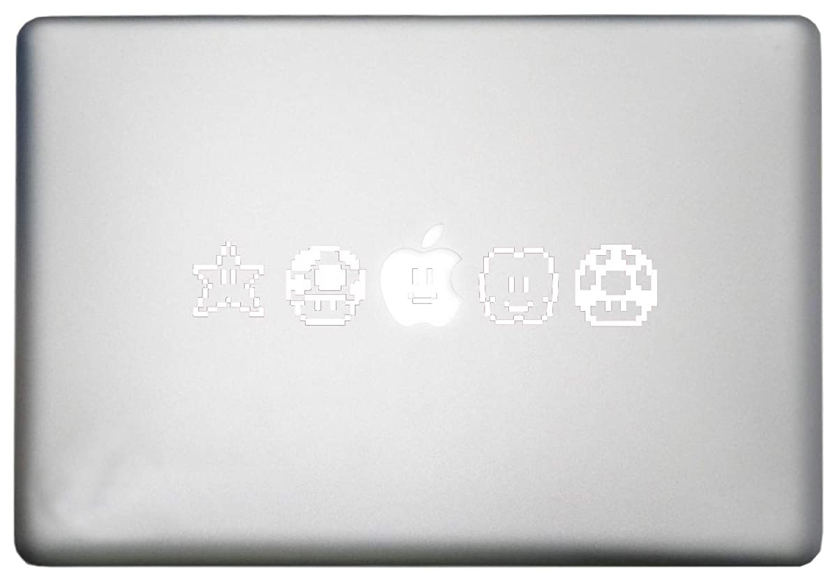 Roommates Nintendo Super Mario Bros Characters Vinyl Decal is a Super World Mario Bros MacBook Pro Sticker Art Print Decal. Laptop Sizes 11, 12, 13 and 15 inch. Many Colors-White