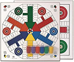 Cayro - Drewniane parcheesi z akcesoriami dla 4 i 6 graczy - Gra tradycyjna - Gra planszowa - Rozwój umiejętności...