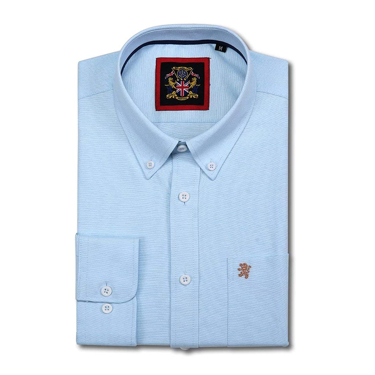Janeo British Apparel Long Sleeve Shirt, Mens English Oxford Button Down Collar