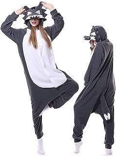 Adult Wolf Pajamas Onesies Plus One Piece Cosplay Animal Halloween Costume for Women Men