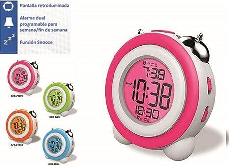 DAEWOO DCD-220PK - Despertador digital con función Snooze,