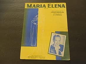 Maria Elena Waltz Lorenzo Barcelata S.K. Russell 1941 Southern Music