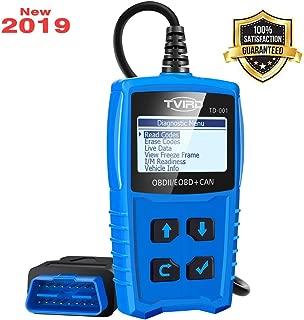 Tvird OBD 2 Scanner Universal Car Engine Fault Code Reader Classic Enhanced Diagnostic Scan Tool - Black and Blue