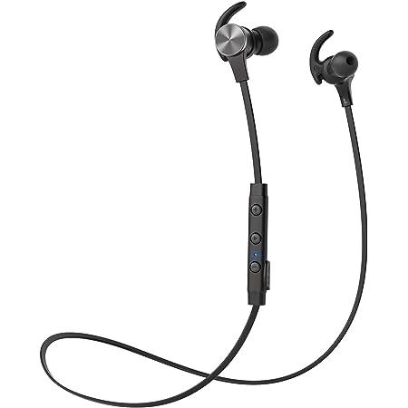 TaoTronics ワイヤレス イヤホン Bluetooth 5.0 進化版 18時間連続再生 apt-X HD対応 cVc8.0 ノイズキャンセリング IPX7防水 HiFi音質 マグネット搭載 スポーツ仕様 (ブラック) TT-BH071JP01