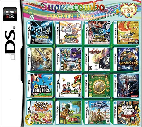 Yaogroo 208 Spiele in 1 NDS Game Pack-Karte Super Combo Multi-Cartridge für DS NDS NDSL NDSi 3DS 2DS XL